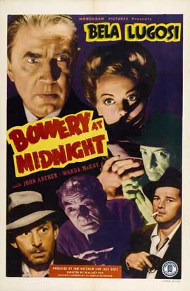 Bowery at Midnight - 11 x 17 Movie Poster - Style A