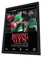 Boxing Gym - 27 x 40 Movie Poster - French Style A - in Deluxe Wood Frame