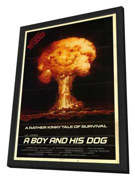 A Boy and His Dog - 27 x 40 Movie Poster - Style A - in Deluxe Wood Frame