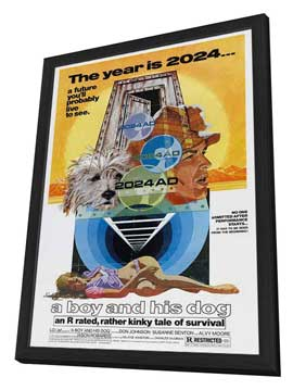 A Boy and His Dog - 27 x 40 Movie Poster - Style B - in Deluxe Wood Frame
