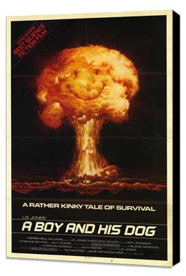 A Boy and His Dog - 27 x 40 Movie Poster - Style A - Museum Wrapped Canvas