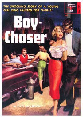 Boy Chaser - 11 x 17 Retro Book Cover Poster