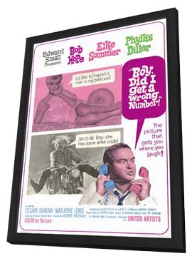 Boy, Did I Get a Wrong Number! - 11 x 17 Movie Poster - Style A - in Deluxe Wood Frame