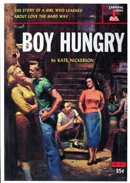 Boy Hungry - 11 x 17 Retro Book Cover Poster