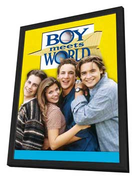 Boy Meets World - 27 x 40 TV Poster - Style A - in Deluxe Wood Frame