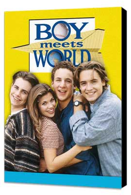 Boy Meets World - 27 x 40 TV Poster - Style A - Museum Wrapped Canvas