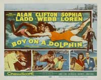 Boy on a Dolphin - 22 x 28 Movie Poster - Half Sheet Style A