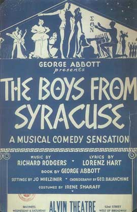 Boys From Syracuse, The (Broadway) - 14 x 22 Poster - Style A