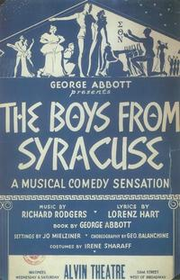 Boys From Syracuse, The (Broadway) - 11 x 17 Poster - Style A