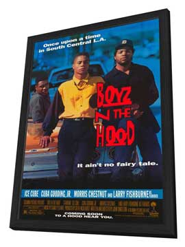 Boyz N the Hood - 11 x 17 Movie Poster - Style A - in Deluxe Wood Frame