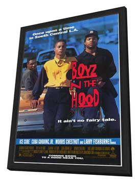 Boyz N the Hood - 27 x 40 Movie Poster - Style A - in Deluxe Wood Frame