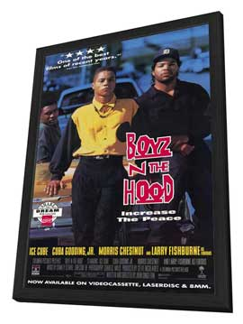Boyz N the Hood - 27 x 40 Movie Poster - Style B - in Deluxe Wood Frame