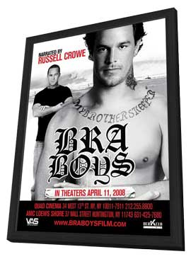 Bra Boys - 11 x 17 Movie Poster - Style B - in Deluxe Wood Frame