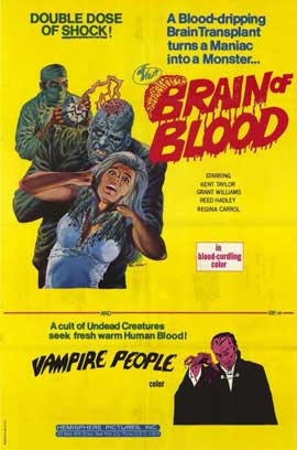 Brain of Blood - 11 x 17 Movie Poster - Style A