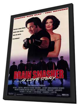 Brain Smasher. . .A Love Story - 11 x 17 Movie Poster - Style A - in Deluxe Wood Frame