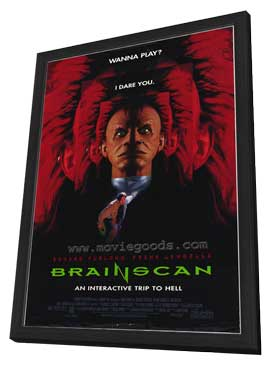 Brainscan - 11 x 17 Movie Poster - Style A - in Deluxe Wood Frame