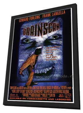 Brainscan - 27 x 40 Movie Poster - Style B - in Deluxe Wood Frame