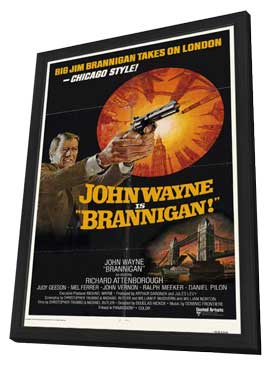 Brannigan - 11 x 17 Movie Poster - Style C - in Deluxe Wood Frame