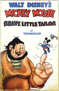 Brave Little Tailor - 43 x 62 Movie Poster - Bus Shelter Style A