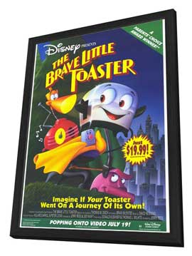 Brave Little Toaster - 27 x 40 Movie Poster - Style B - in Deluxe Wood Frame