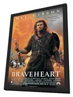 Braveheart - 27 x 40 Movie Poster - Style A - in Deluxe Wood Frame