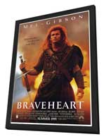Braveheart - 27 x 40 Movie Poster - Style B - in Deluxe Wood Frame