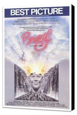Brazil - 27 x 40 Movie Poster - Style A - Museum Wrapped Canvas