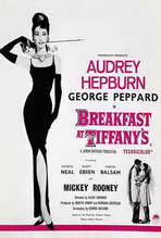 Breakfast at Tiffany's - 27 x 40 Movie Poster - Style F