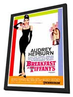 Breakfast at Tiffany's - 27 x 40 Movie Poster - Style B - in Deluxe Wood Frame