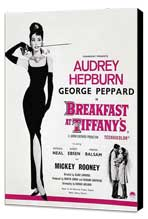 Breakfast at Tiffany's - 27 x 40 Movie Poster - Style F - Museum Wrapped Canvas