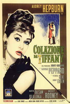 Breakfast at Tiffany's - 27 x 40 Movie Poster - Italian Style A