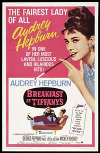 Breakfast at Tiffany's - 27 x 40 Movie Poster - Style C