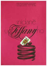 Breakfast at Tiffany's - 11 x 17 Movie Poster - Czchecoslovakian Style A