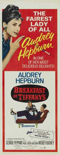 Breakfast at Tiffany's - 14 x 36 Movie Poster - Insert Style B