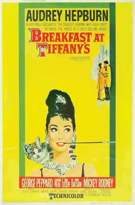Breakfast at Tiffany's - 11 x 17 Movie Poster - Style J