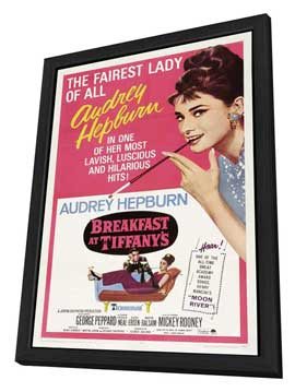 Breakfast at Tiffany's - 11 x 17 Movie Poster - Style G - in Deluxe Wood Frame