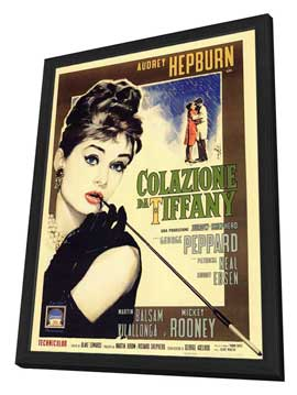 Breakfast at Tiffany's - 27 x 40 Movie Poster - Italian Style A - in Deluxe Wood Frame