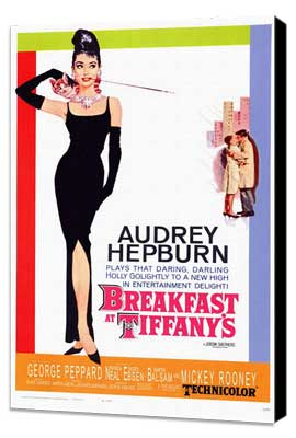 Breakfast at Tiffany's - 11 x 17 Movie Poster - Style A - Museum Wrapped Canvas