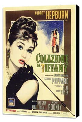 Breakfast at Tiffany's - 11 x 17 Movie Poster - Italian Style A - Museum Wrapped Canvas