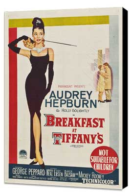 Breakfast at Tiffany's - 11 x 17 Movie Poster - Australian Style A - Museum Wrapped Canvas