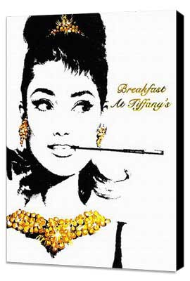Breakfast at Tiffany's - 11 x 17 Movie Poster - Style D - Museum Wrapped Canvas