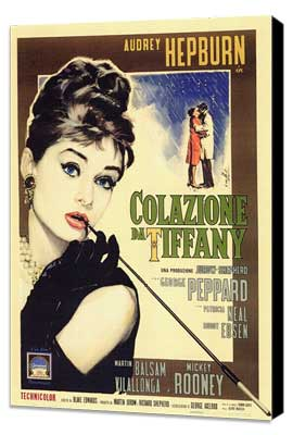 Breakfast at Tiffany's - 27 x 40 Movie Poster - Italian Style A - Museum Wrapped Canvas