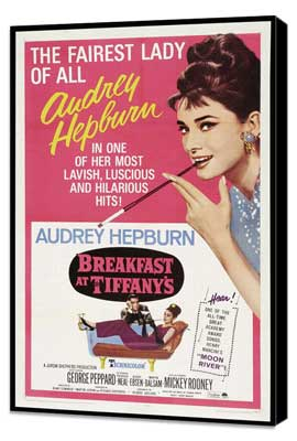 Breakfast at Tiffany's - 27 x 40 Movie Poster - Style C - Museum Wrapped Canvas