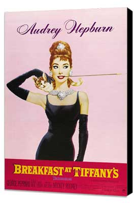 Breakfast at Tiffany's - 27 x 40 Movie Poster - Style D - Museum Wrapped Canvas