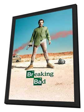 Breaking Bad - 11 x 17 TV Poster - Style A - in Deluxe Wood Frame