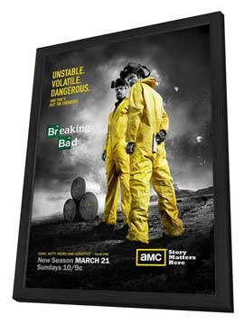 Breaking Bad - 27 x 40 TV Poster - Style C - in Deluxe Wood Frame