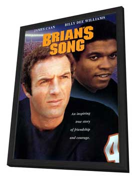 Brian's Song - 27 x 40 Movie Poster - Style A - in Deluxe Wood Frame