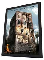 Brick Mansions - 11 x 17 Movie Poster - Style A - in Deluxe Wood Frame
