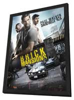 Brick Mansions - 11 x 17 Movie Poster - French Style A - in Deluxe Wood Frame