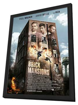 Brick Mansions - 27 x 40 Movie Poster - Style A - in Deluxe Wood Frame